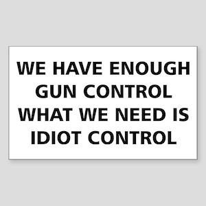 Idiot Control Sticker
