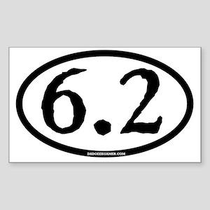 6.2 - plain - ticonderoga - ci Sticker (Rectangle)