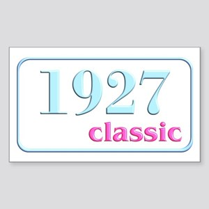 1927, 80th Rectangle Sticker
