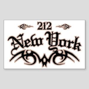 New York 212 Sticker (Rectangle)