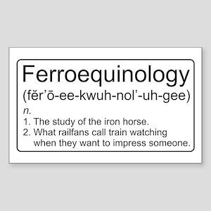 Ferroequinology Defined Sticker