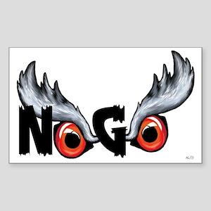 Northern Goshawk Sticker (Rectangle)