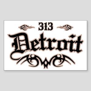 Detroit 313 Sticker (Rectangle)