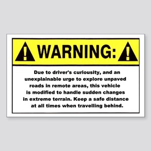 Warning / Driver's Curious - Rectangle Sticker