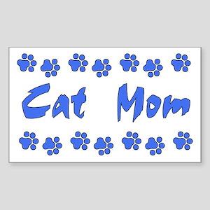 Cat Mom Rectangle Sticker