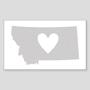 Heart Montana Sticker (Rectangle)