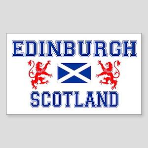 Edinburgh Rectangle Sticker