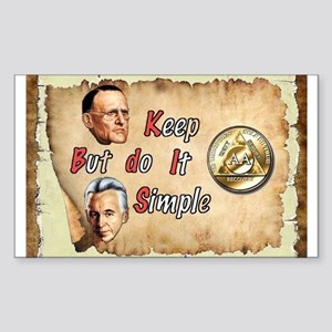 BILL, BOB KEEP IT SIMPLE Sticker (Rectangle)
