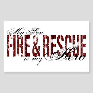 Son My Hero - Fire & Rescue Rectangle Sticker