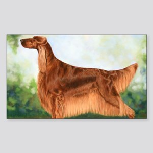 Irish Setter 3 by Dawn Secord Sticker (Rectangle)