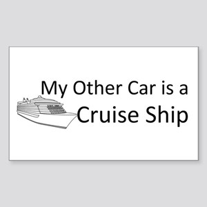 My Other Car... Cruise Ship Sticker (Rectangle)
