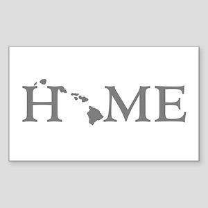 Hawaii Home Sticker (Rectangle)