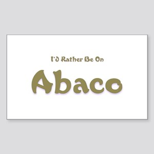 I'd Rather Be...Abaco Rectangle Sticker
