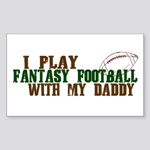Fantasy Football with Daddy Rectangle Sticker