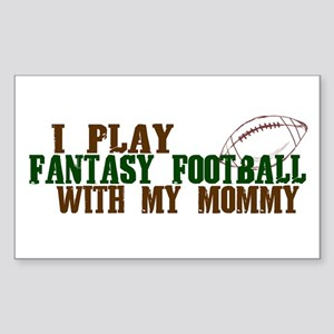 Fantasy Football with Mommy Rectangle Sticker