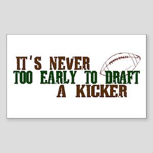 Fantasy Football Draft Kicker Rectangle Sticker