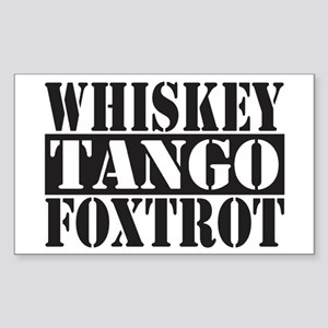 Whiskey Tango Foxtrot Sticker