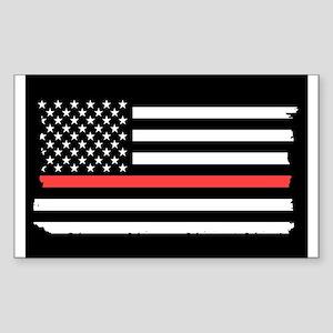 Red Line Flag Sticker