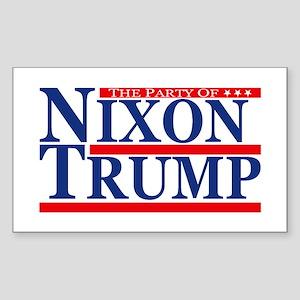 Nixon Trump Party Sticker