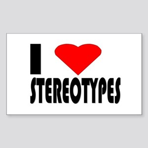 Stereotypes Rectangle Sticker