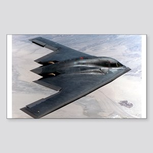 B2 Stealth Bomber In Flight Rectangle Sticker