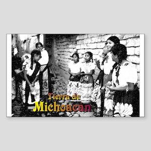 Tierra de Michoacán (B/W) Rectangle Sticker