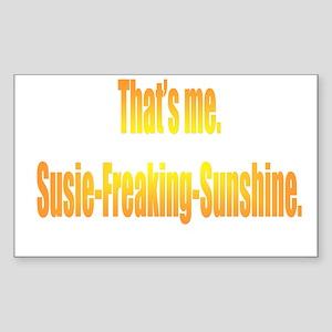 Susie-Freaking-Sunshine Rectangle Sticker