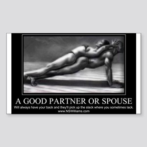 A good partner or spouse Sticker (Rectangle)