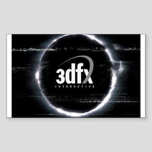 3dfx Sticker (Rectangle)