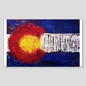 Colorado Flag Sticker (Rectangle)