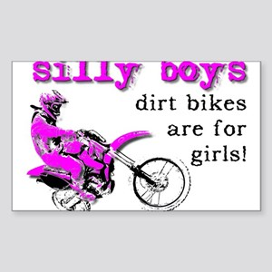 Dirt Bikes Are For Girls Motocross Bike Funny Stic
