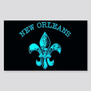Neon Tuquoise NOLA French Quarter Sticker