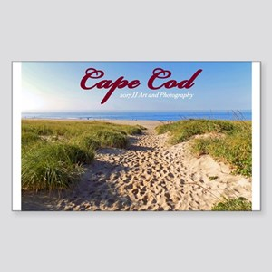 Cape Cod Beach Sticker (rectangle)