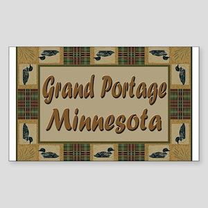 Grand Portage Minnesota Loon Rectangle Sticker