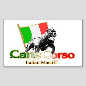 Cane Corso run Rectangle Sticker