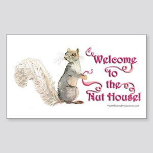 Squirrel Nut House Sticker (Rectangle)