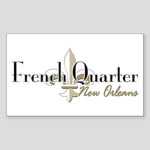 French Quarter NO Sticker (Rectangle)