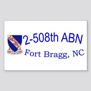 2nd Bn 508th ABN Sticker (Rectangle)