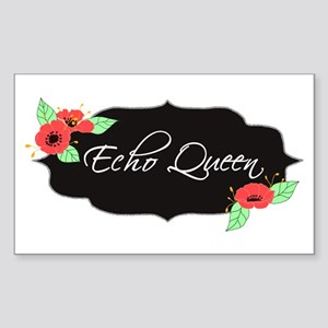 Echo Queen Poppies Sticker (Rectangle)