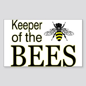keeping bees Rectangle Sticker