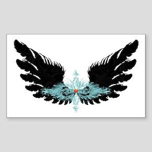 Michael's Wings Sticker (Rectangle)