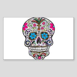 glitter Sugar Skull Sticker