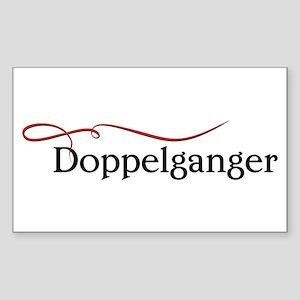 The Vampire Diaries Doppelganger black Sticker (Re