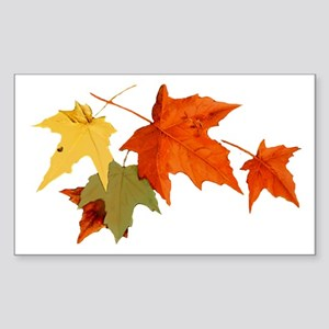 Autumn Colors Rectangle Sticker