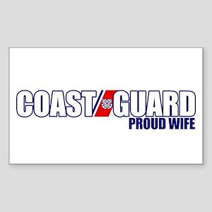 USCG Wife Sticker (Rectangle)