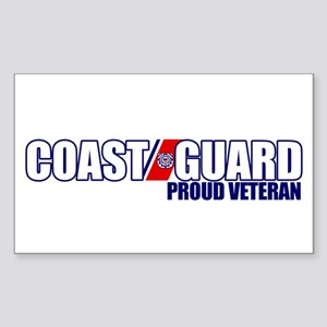 USCG Veteran Sticker (Rectangle)