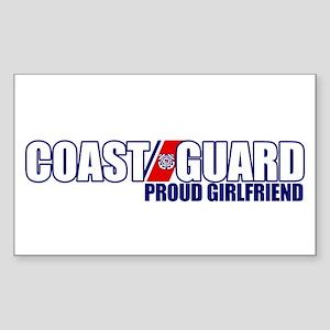 USCG Girlfriend Sticker (Rectangle)