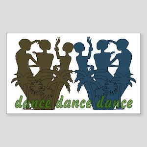Dance Dance Dance Rectangle Sticker