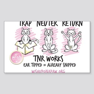 Wish TNR 3 Cats - Black Text Sticker
