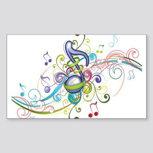 Music in the air Sticker (Rectangle)